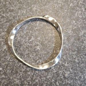 Elle Jewelry Jewelry - ELLE Sterling Silver 925 Wavy Bangle Bracelet